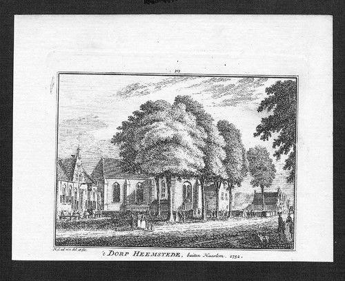 1750 - Heemstede Zuid-Kennemerland Original Kupferstich engraving gravure 56623