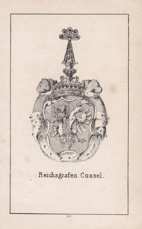 1840 Cossel Brandenburg Mecklenburg Wappen heraldry Heraldik coat of arms Adel