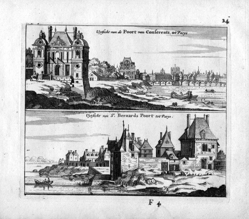 1666 Port Saint-Bernard Paris Frankreich France gravure estampe Kupferstich