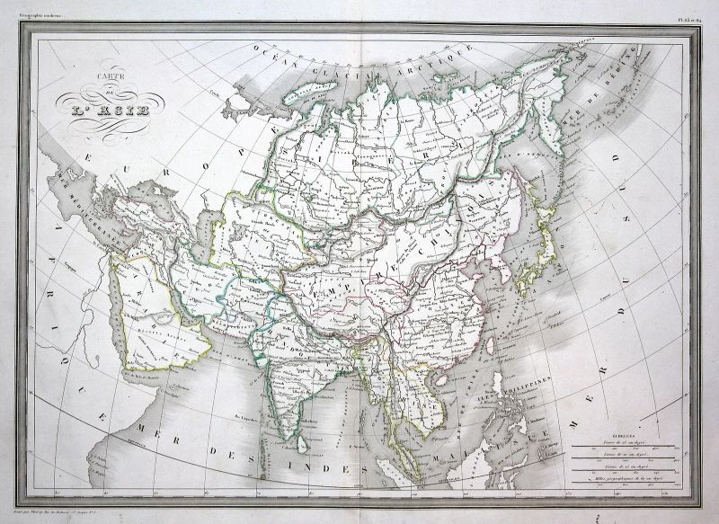 1837 Asie Asia Asien China India Indien Thailand Thaïlande map Karte carte
