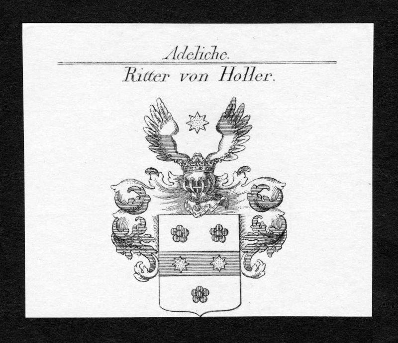 Rheinland-Pfalz Holler Wappen Adel coat of arms Heraldik Kupferstich engraving