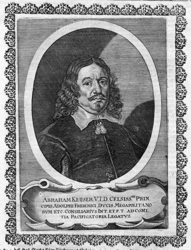 17. Jh. Abraham Keyser Hildesheim Jurist Portrait Kupferstich antique print