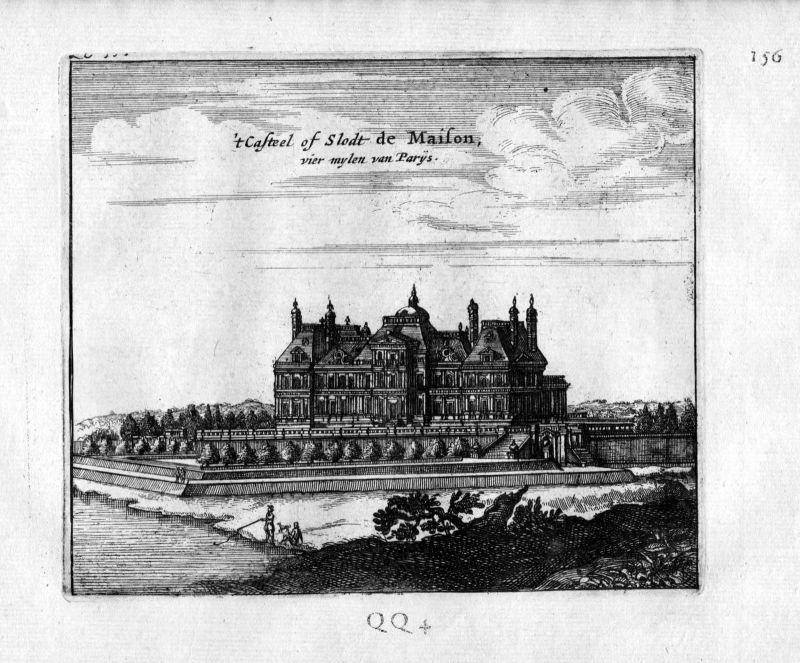 1666 - Chateau de Maisons Paris Frankreich France gravure estampe Kupferstich