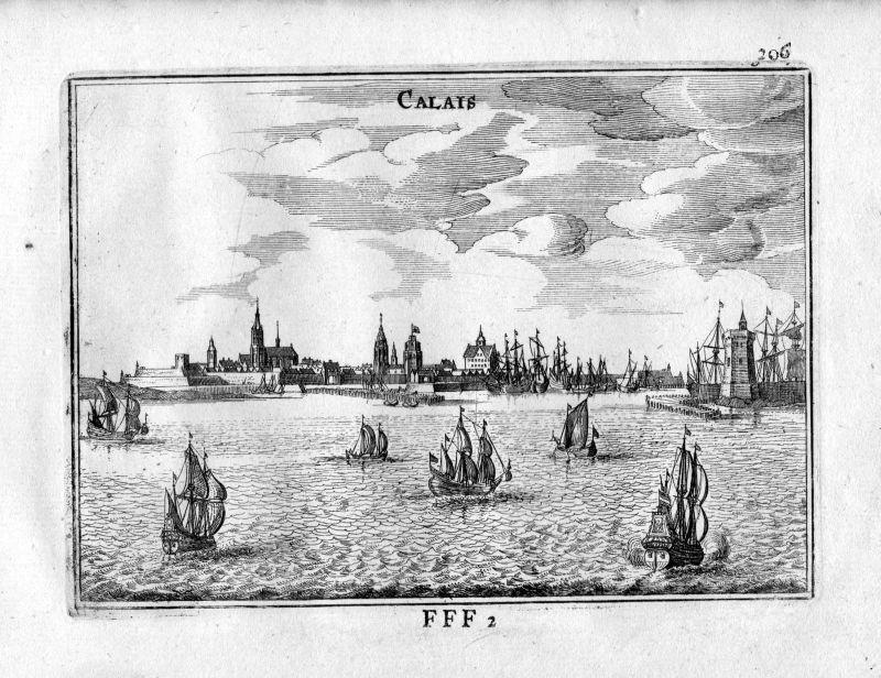 1666 Calais Pas-de-Calais Frankreich France gravure estampe Kupferstich