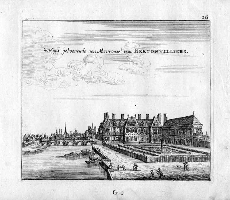 1666 Brentonvillers Paris Frankreich France gravure estampe Kupferstich