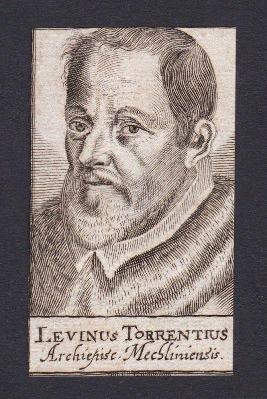 17. Jh. - Laevinus Torrentius / bishop Bischof Mechelen Portrait Kupferstich