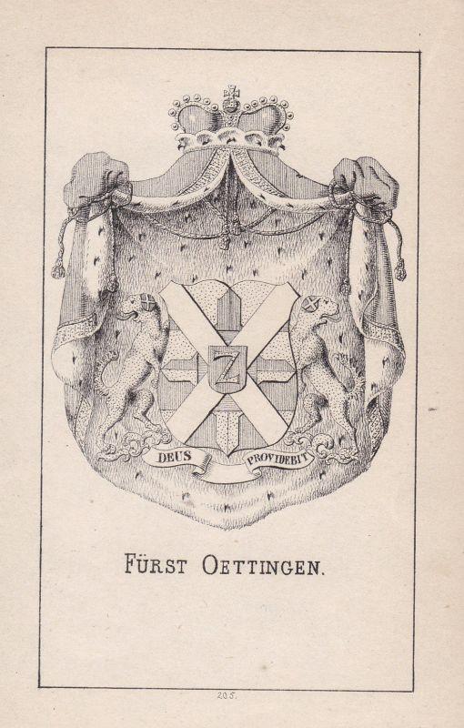 1840 Oettingen Bayern Bavaria Wappen heraldry Heraldik coat of arms Adel
