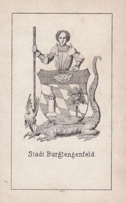 1840 Burglengenfeld Bayern Bavaria Wappen heraldry Heraldik coat of arms Adel