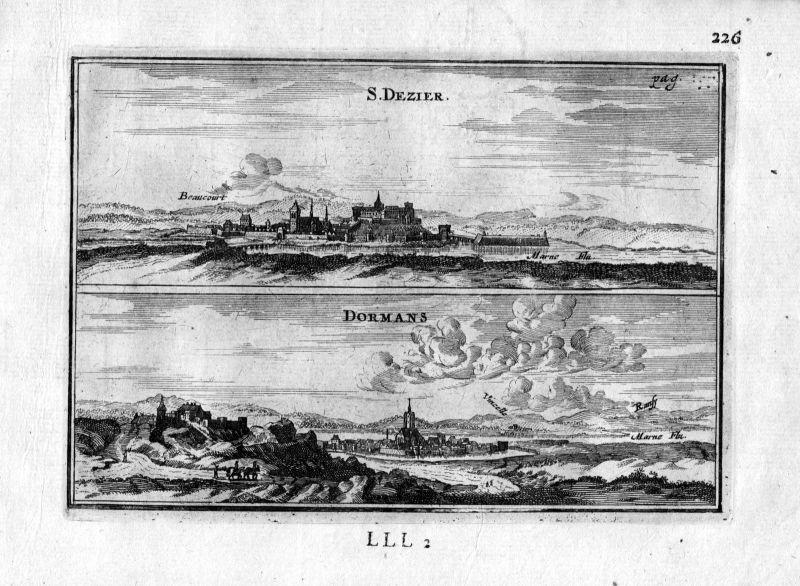 1666 Saint Dizier Dormans Frankreich France gravure estampe Kupferstich