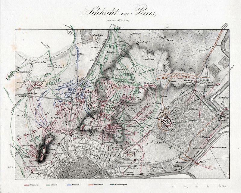Paris Frankreich France Île-de-France Kupferstich engraving antique print