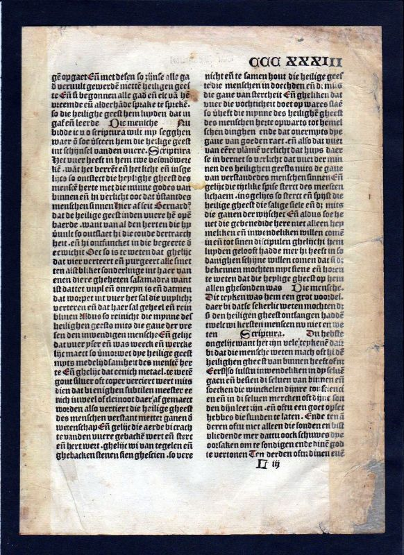 1499 Blatt CCCXXXIII Inkunabel Vita Christi Zwolle incunable Dutch Holland