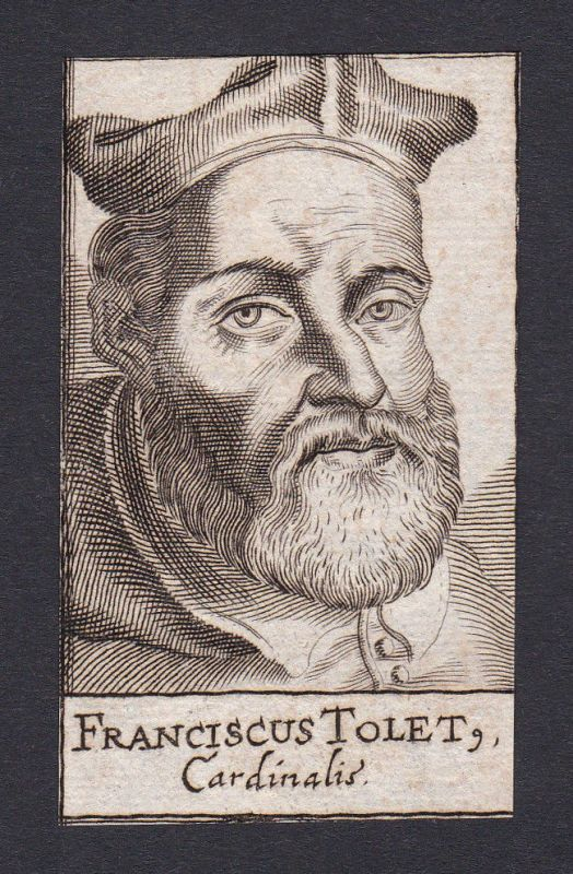 17. Jh. - Francisco Toledo / cardinal Kardinal Espana Portrait Kupferstich