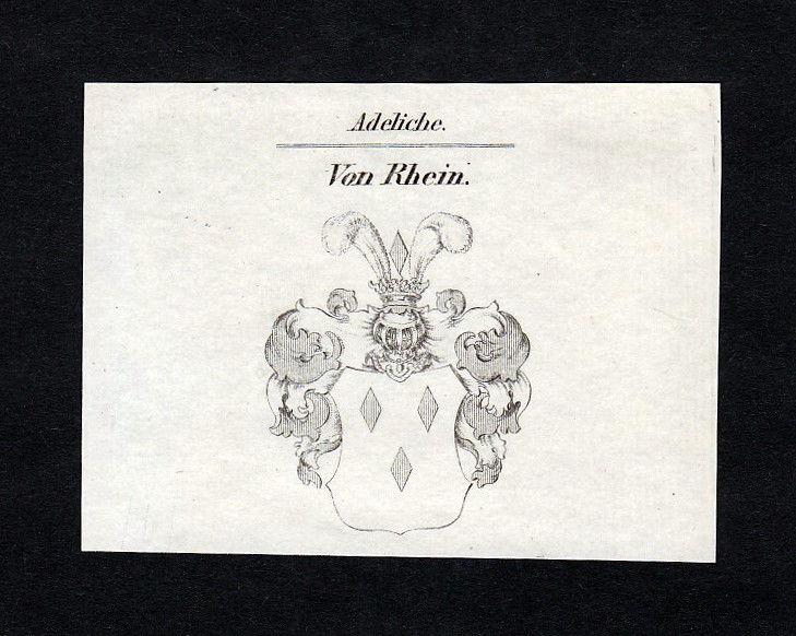 1820 Rhein Wappen Adel coat of arms heraldry Heraldik Kupferstich engravi 137382