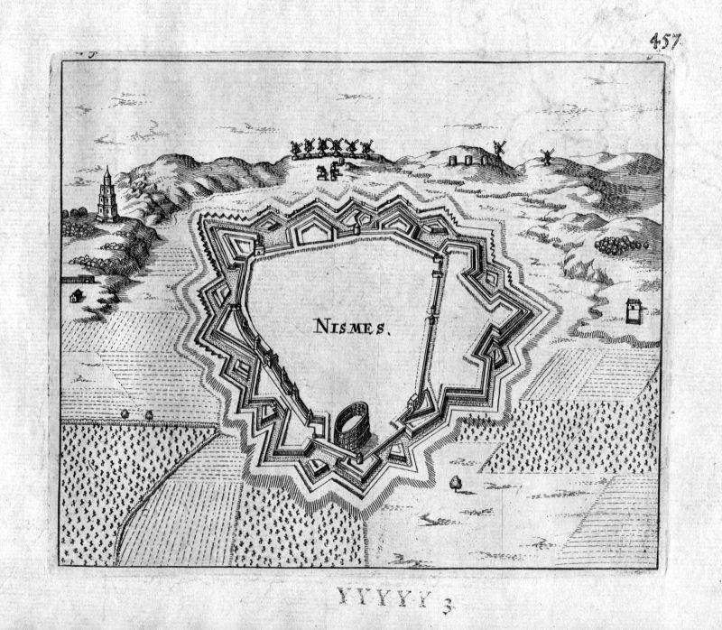 1666 - Nimes Gard Frankreich France gravure estampe Kupferstich