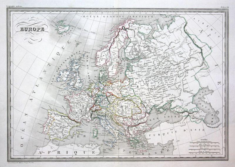 Europe Europa Russland Deutschland Italien Spanien Frankreich map Karte carte