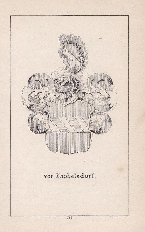 1840 Knobelsdorff Meißen Meissen Wappen heraldry Heraldik coat of arms Adel