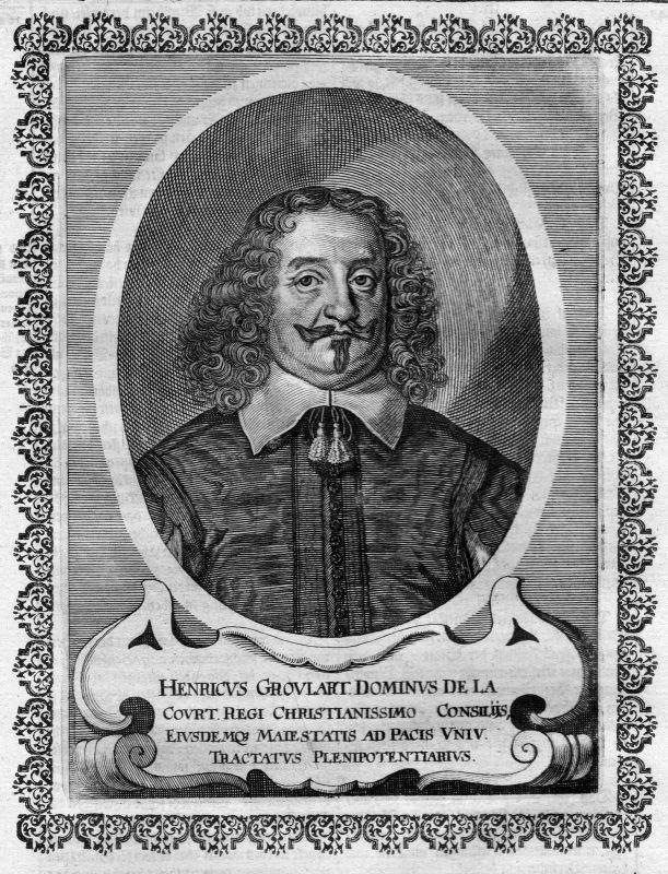 17. Jh. Henrik Groulart Osnabrück Portrait Kupferstich antique print