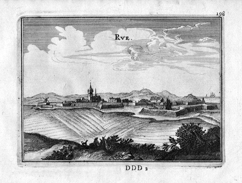 1666 Rue Picardie Somme Frankreich France gravure estampe Kupferstich