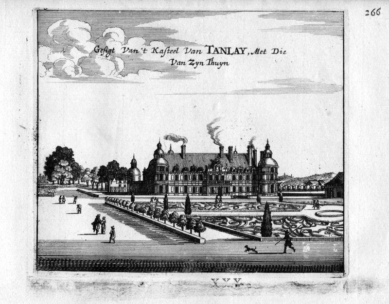 1666 - Chateau de Tanlay Yonne France Frankreich gravure estampe Kupferstich