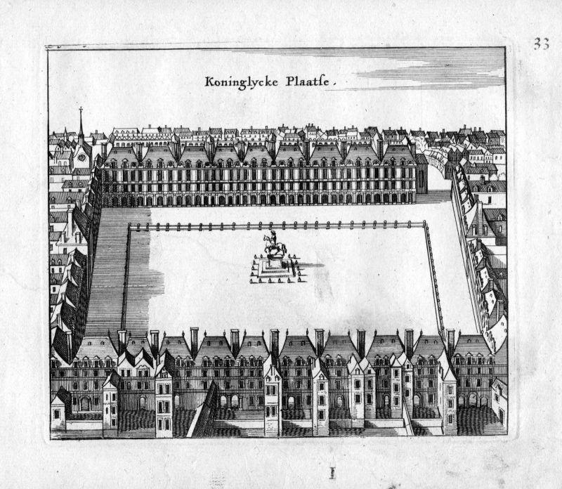 1666 Palais Royal Paris Frankreich France gravure estampe Kupferstich