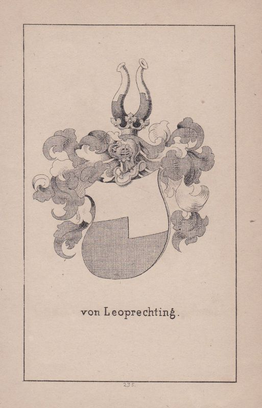 1840 Bavaria Leoprechting Bayern Wappen heraldry Heraldik coat of arms Adel