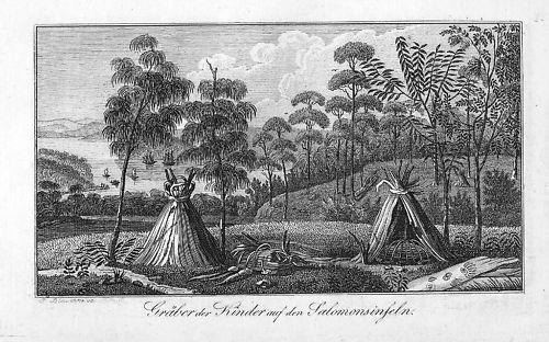 1820 - Solomon-Islands Archipelago Pacific Kupferstich engraving map