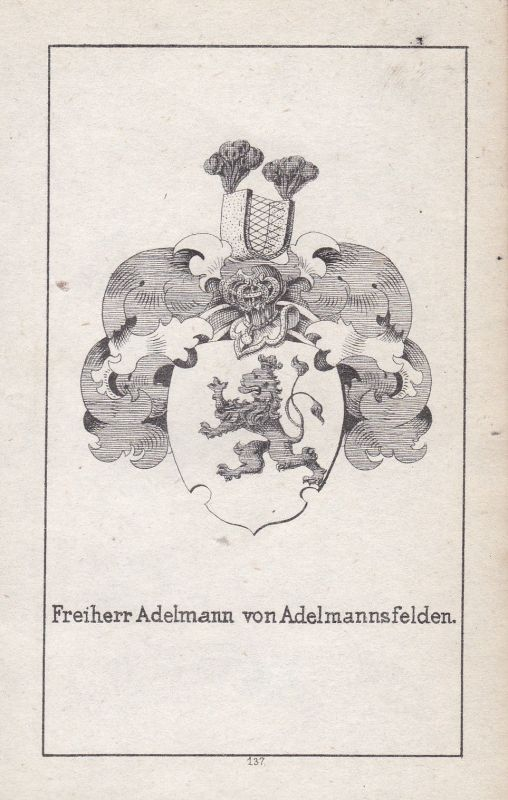 Adelmannsfelden Adelmann Baden-Württemberg Wappen Heraldik coat of arms Adel
