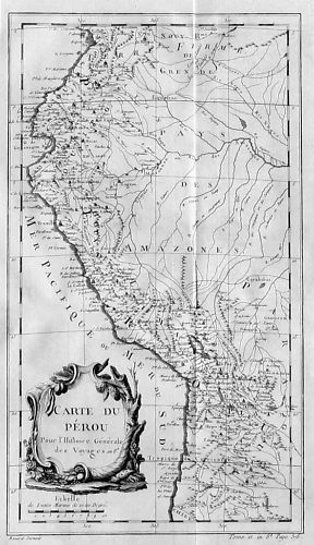 1750 - Peru Lima South America map Karte Bellin Kupferstich carte Amerika