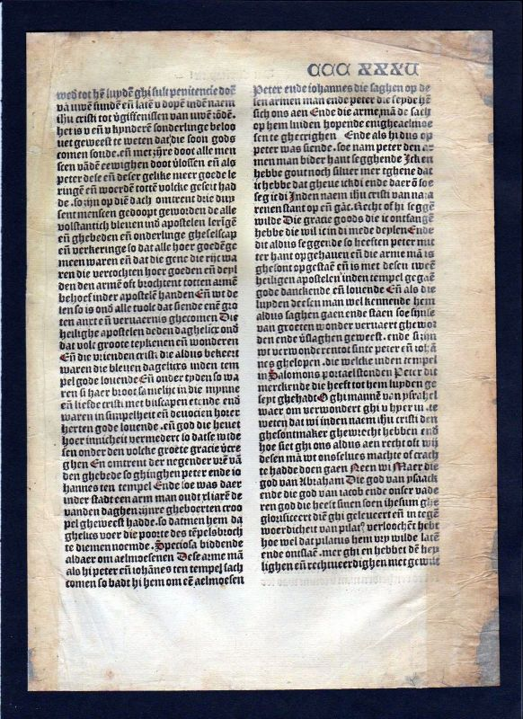1499 Blatt CCCXXXV Inkunabel Vita Christi Zwolle incunable Dutch Holland