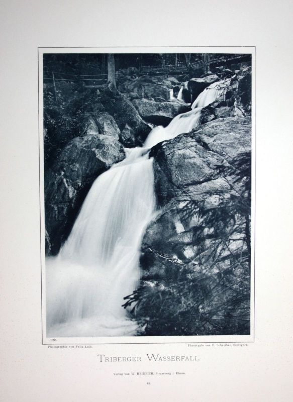 1895 Triberger Wasserfälle Triberg Foto Fotografie photo Schwarzwald Felix Luib