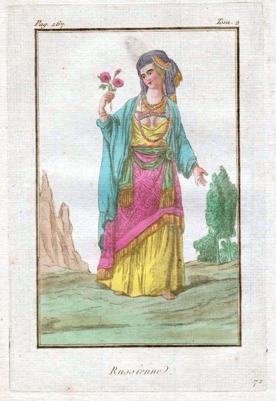 1780 Russia Russland costume Trachten Kupferstich antique print