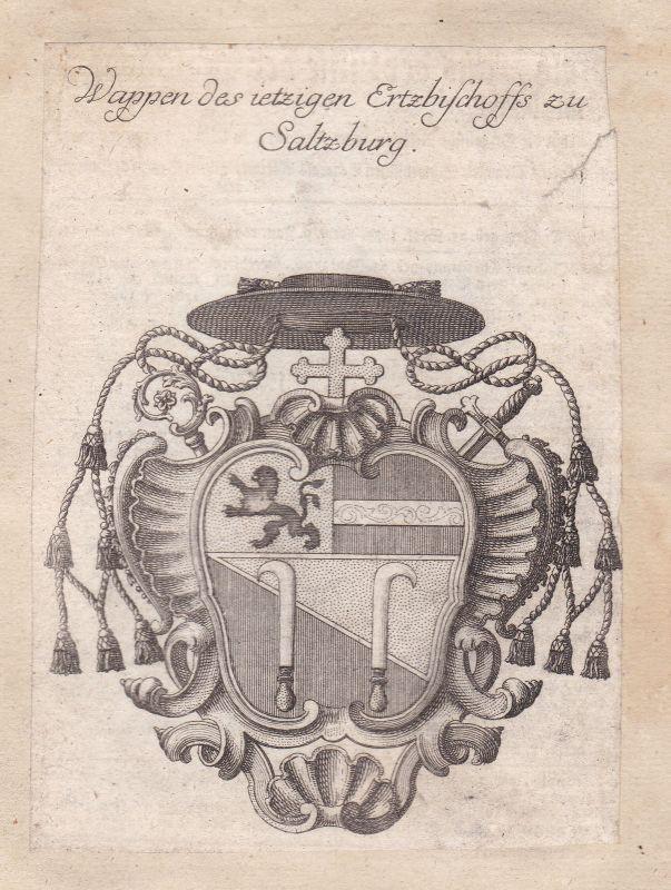 Salzburg Österreich Austria Adel Wappen coat of arms Kupferstich antique print