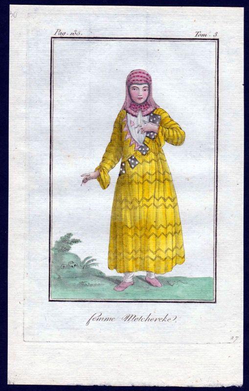 1780 - Melcherek Russland Russia costume Kupferstich Tracht antique print