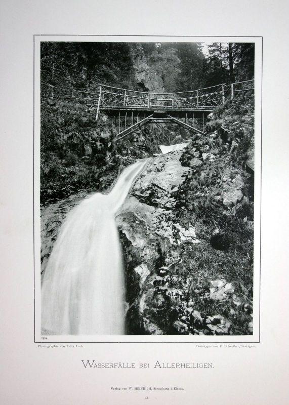 1894 Allerheiligen-Wasserfälle Oppenau Foto Fotografie photo Schwarzwald Luib
