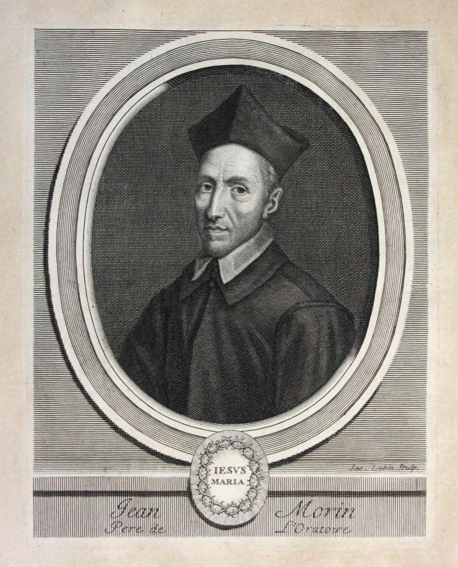 Ca. 1700  Jean Morin Theologe theologien Paris Portrait Kupferstich gravure