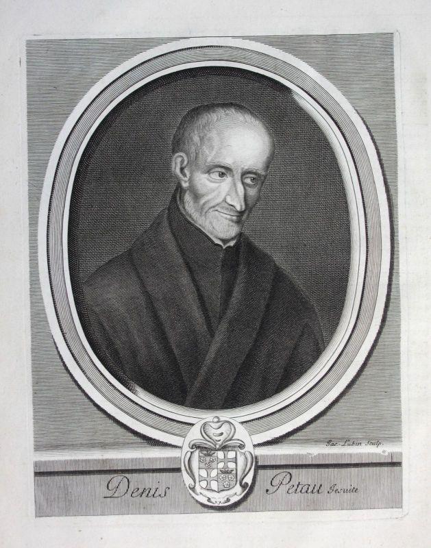Ca. 1700 Denis Petau Jesuit jesuite Historiker historien Portrait Kupferstich