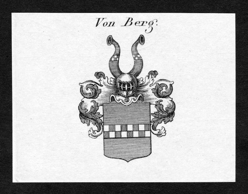 Ca. 1820 Berg Wappen Adel coat of arms Kupferstich antique print heraldry 138470
