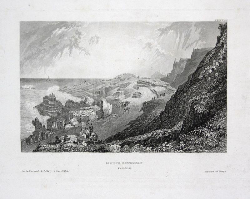 Giant's Causeway Ireland Irland Nordirland Ansicht view Stahlstich antique print