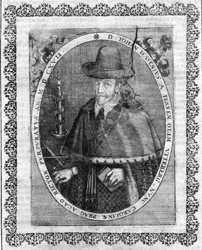 Ca. 1650 Jan Jesensky Mediziner physician Portrait Kupferstich antique print