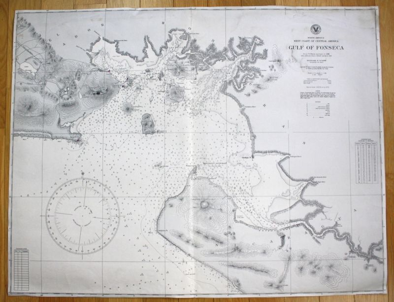 North America West Coast Central America Gulf of Fonseca Amerika USA map