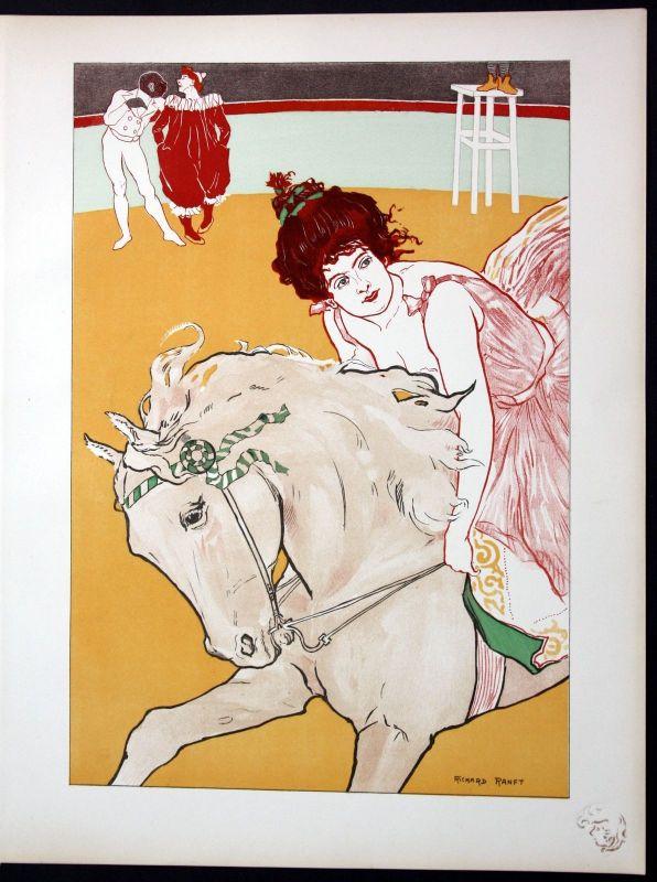 1897 Richard Ranft Art Nouveau Jugendstil Lithographie Poster estampe Moderne