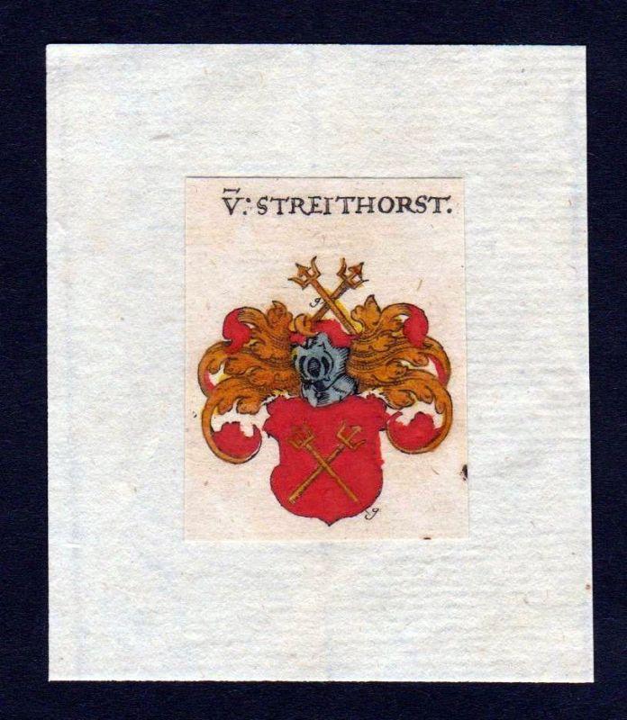 17. Jh Streithorst Wappen coat of arms heraldry Heraldik Kupferstich 0