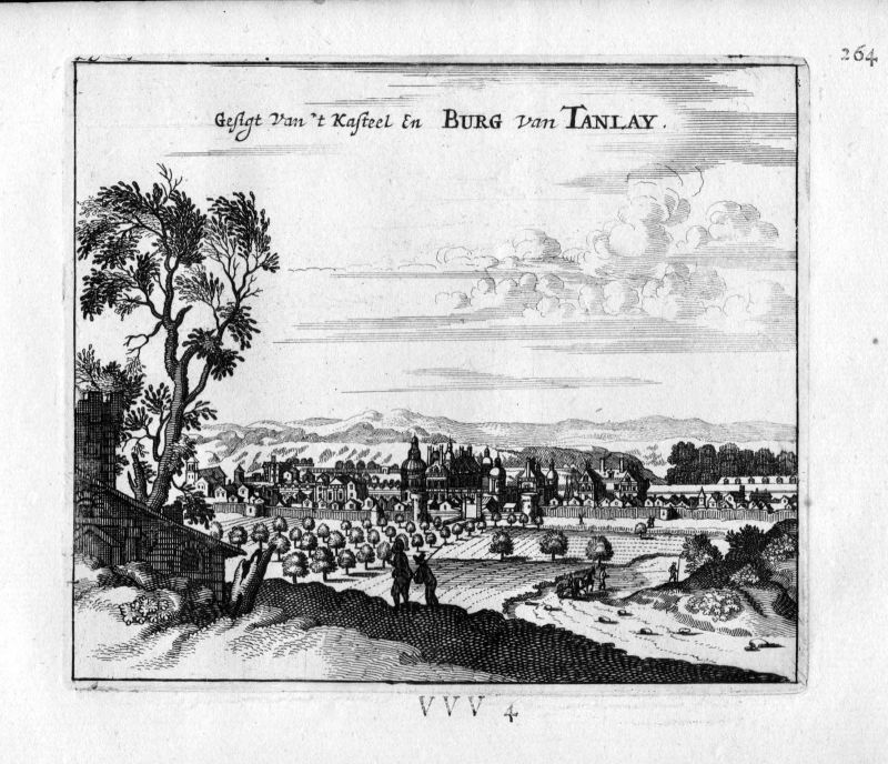 1666 Chateau Tanlay Yonne Frankreich France gravure estampe Kupferstich