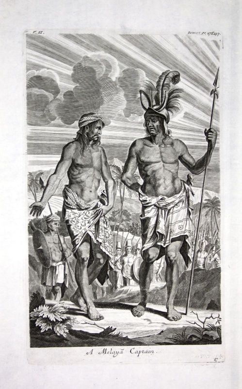 1730 Jakarta Java Indonesia Asia military Kupferstich engraving Churchill