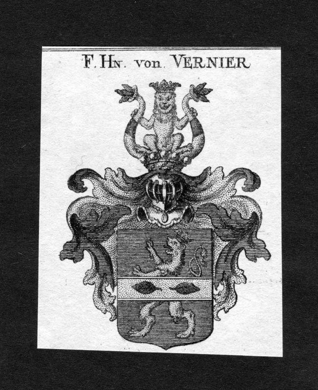 1820 - Vernier Wappen Adel coat of arms heraldry Heraldik Kupferstich 124584