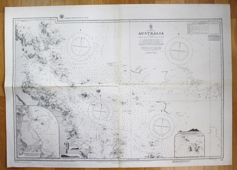 East Coast Australia Queensland Percy Isles Whitsunday Islands Australien map