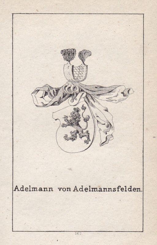 1840 Adelmannsfelden Baden-Württemberg Wappen Heraldik coat of arms Adel