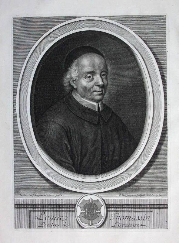 1696 Louis Thomassin Theologe theologien Philosoph philosopher Portrait gravure