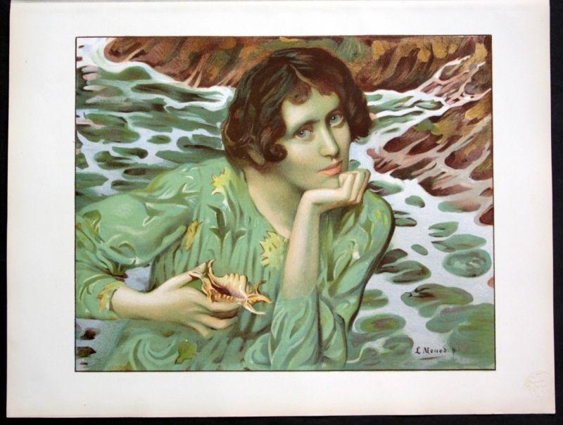 1897 Lucien Monod Art Nouveau Jugendstil Lithographie Poster estampe Moderne