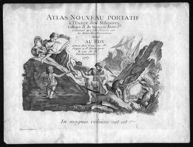 1767 Titel Titelblatt title Atlas Kupferstich antique print Le Rouge